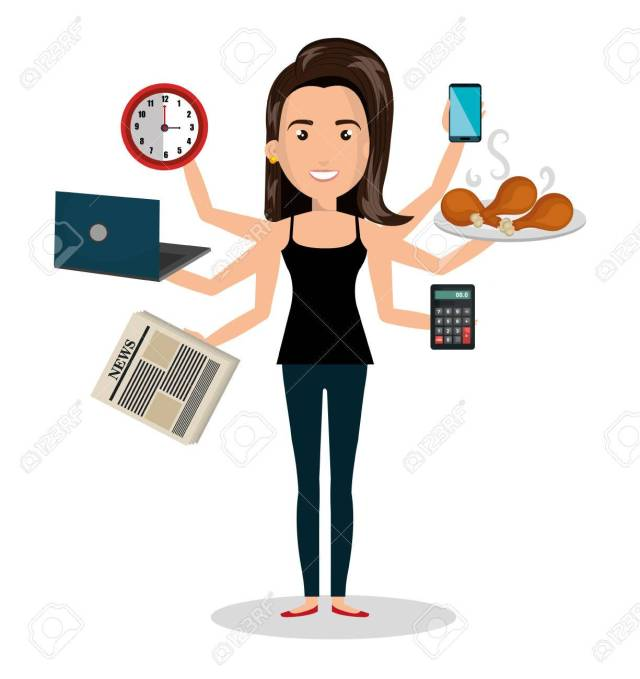 busy person design